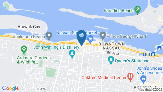 British Colonial Hilton - Nassau Map