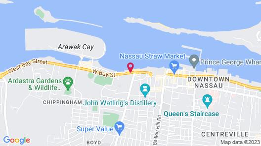 Courtyard by Marriott Nassau Downtown/Junkanoo Beach Map