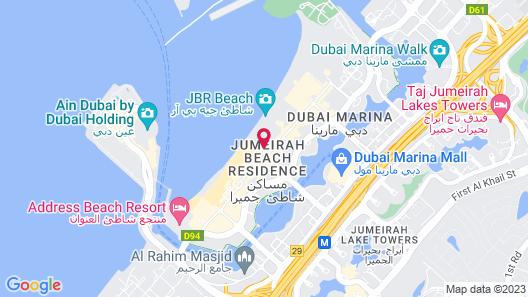 Hilton Dubai Jumeirah Map