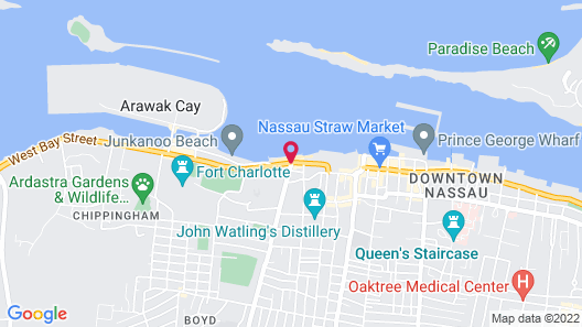 Holiday Inn Express & Suites Nassau Map