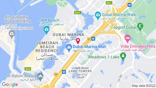 Radisson Blu Residence, Dubai Marina Map