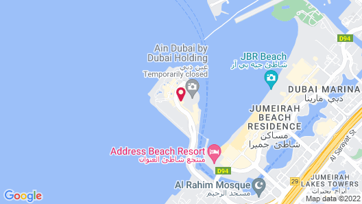 FAM Living - Bluewaters Island | Ain Dubai Map