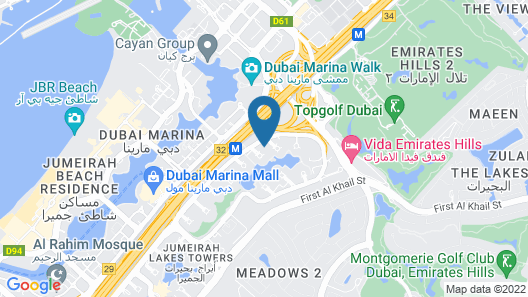 Pullman Dubai Jumeirah Lakes Towers - Hotel and Residence Map