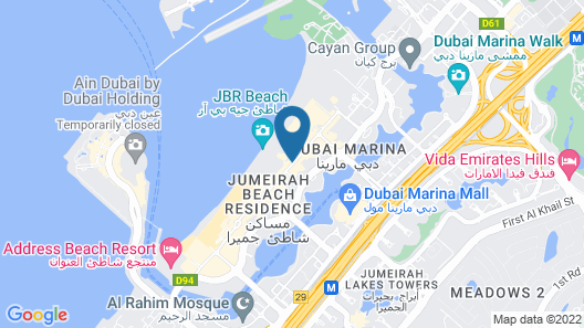 Rixos Premium Dubai JBR Map