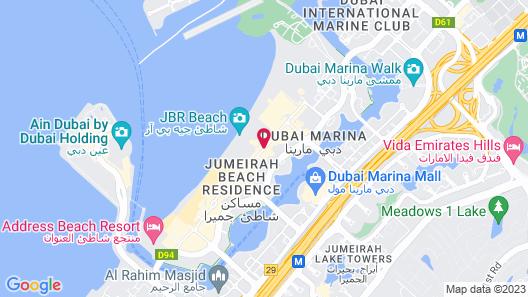 JA Oasis Beach Tower Map