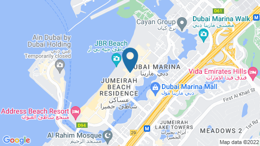 JA Oasis Beach Tower Map