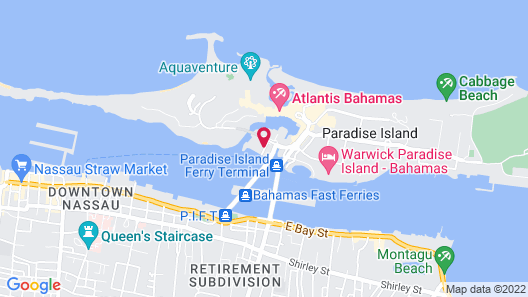 Harborside Resort at Atlantis Map