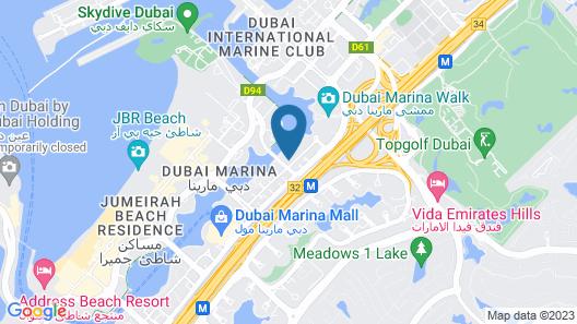 Marina Hotel Apartments Map