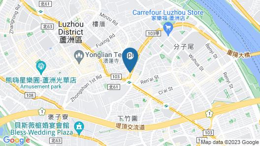 Lacle Hotel-Luzhou Taipei Map