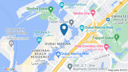 Barcelo Residences Dubai Marina Map