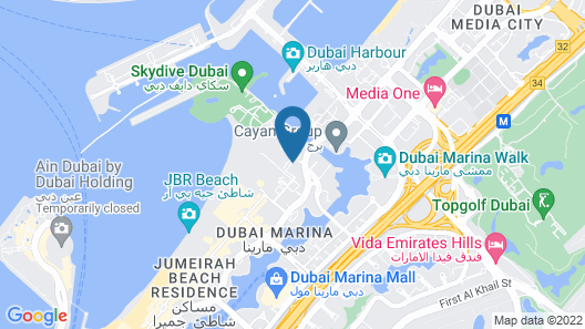 Habtoor Grand Resort, Autograph Collection Map