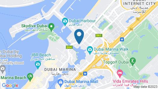 Dubai Marriott Harbour Hotel & Suites Map