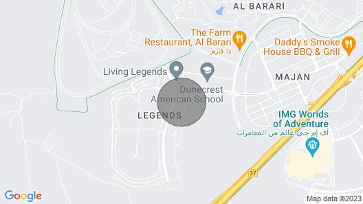 Brand New Furnished Studio in Cleopatra, Wadi Al Safa 3 Map