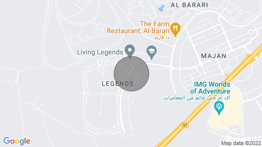 Signature Holiday Homes - Amazing Studio in Hercules Tower, Wadi Al Safa Map