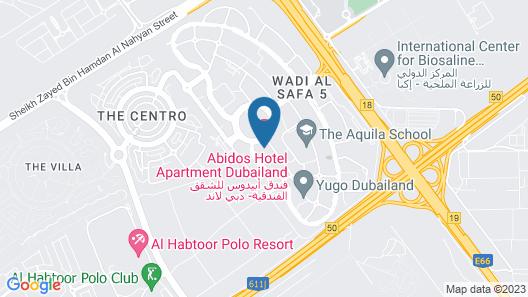 Abidos Hotel Apartment, Dubailand Map