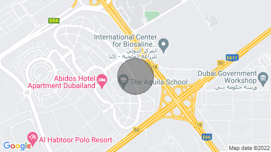 Modern and cosy studio in Dubai Land Map