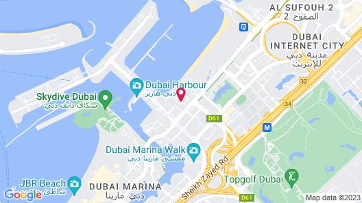 Le Méridien Mina Seyahi Beach Resort & Waterpark Map