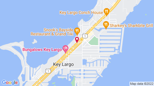 The Pelican Key Largo Cottages Map