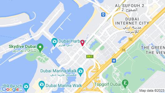 The Westin Dubai Mina Seyahi Beach Resort & Marina Map