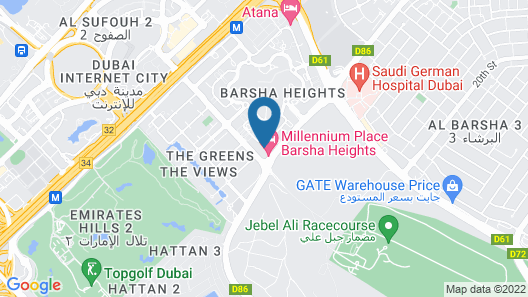 Millennium Place Barsha Heights Hotel Map