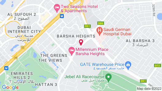 Millennium Place Barsha Heights Hotel Apartments Map