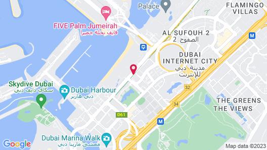 Arjaan by Rotana Dubai Media City Map