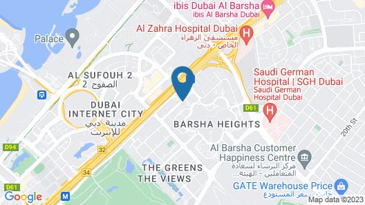 dusitD2 kenz Hotel Dubai Map