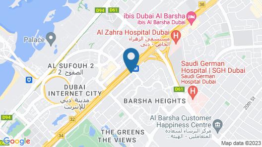 Mercure Hotel Apartments Dubai Barsha Heights Map