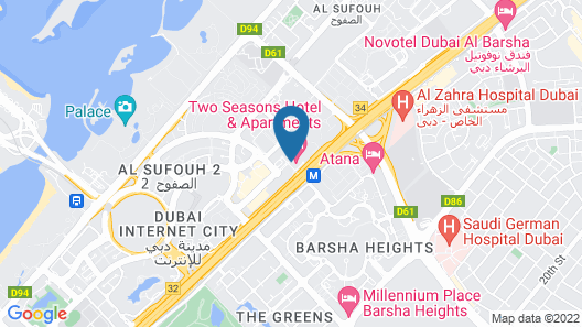 Two Seasons Hotel & Apartments Map