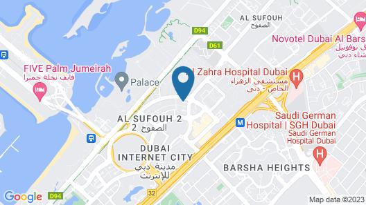 Holiday Inn Express Dubai, Internet City Map