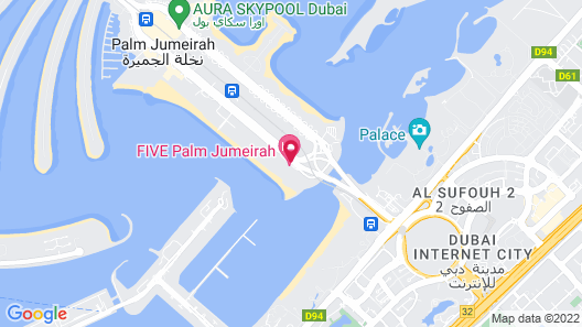 FIVE Palm Jumeirah Dubai Map