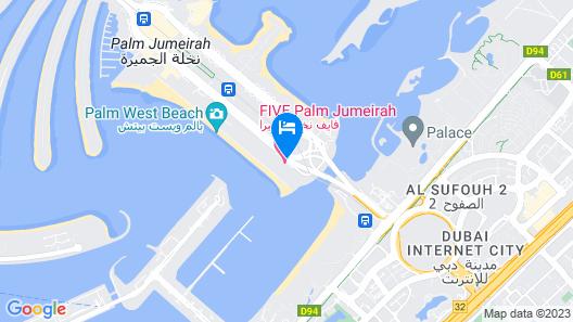 FIVE Palm Jumeirah Dubai Map