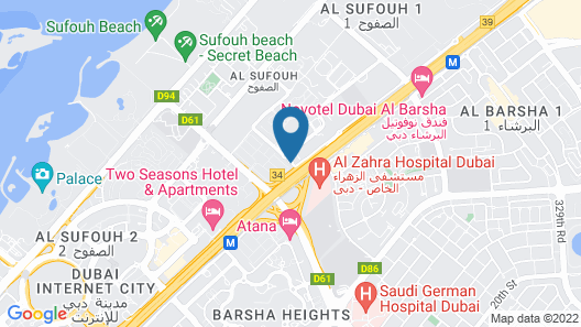 Fraser Suites Dubai Map
