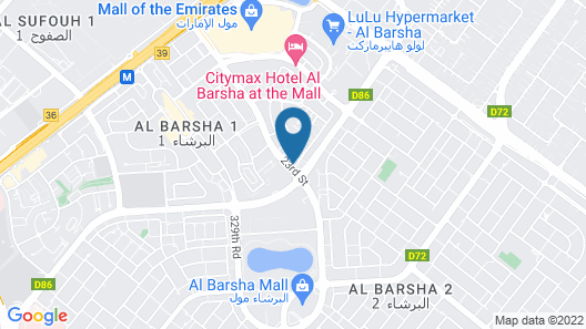 Carlton Al Barsha  Map