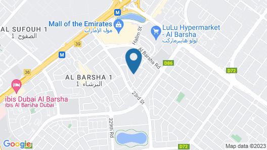 Grand Excelsior Hotel Al Barsha Map