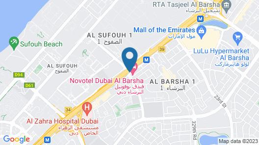 Novotel Dubai Al Barsha Map