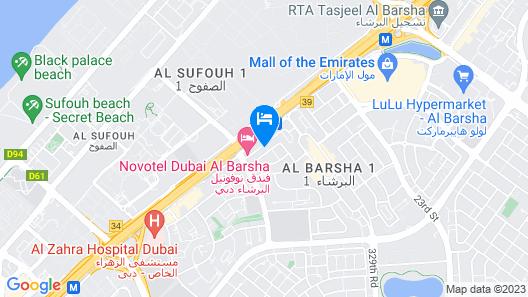 Golden Tulip Al Barsha Map