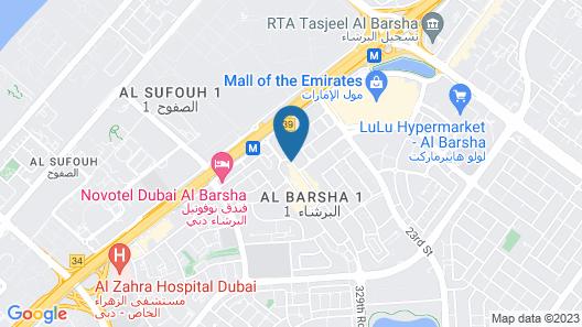 Hampton by Hilton Dubai Al Barsha Map