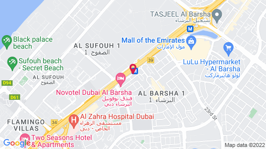 Rose Park Hotel Al Barsha Map