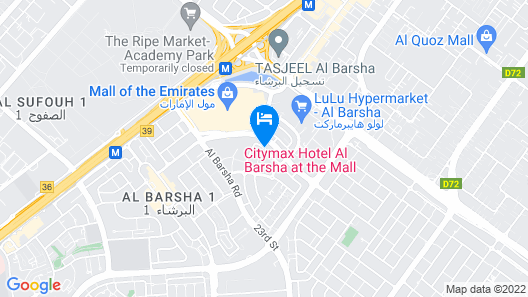 Citymax Hotel Al Barsha Map
