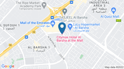 Citymax Hotel Al Barsha at the Mall Map