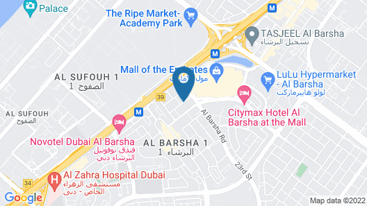 Hilton Garden Inn Dubai Mall Of The Emirates Map