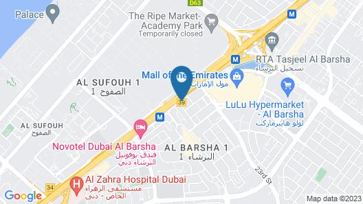 Holiday Inn Dubai - Al Barsha, an IHG Hotel Map