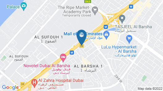 Holiday Inn Dubai - Al Barsha Map