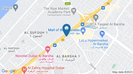 Signature Hotel Al Barsha Map