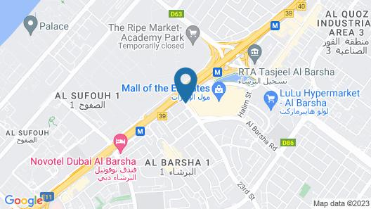 Flora Al Barsha Hotel at the Mall Map