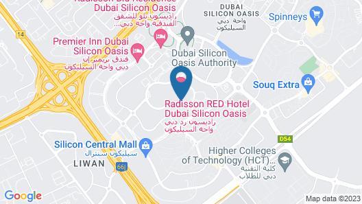 Radisson Red Dubai Silicon Oasis Map