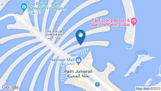 Dream Inn Dubai - Getaway Villa Map