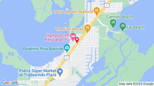 Hampton Inn Key Largo Manatee Bay Map