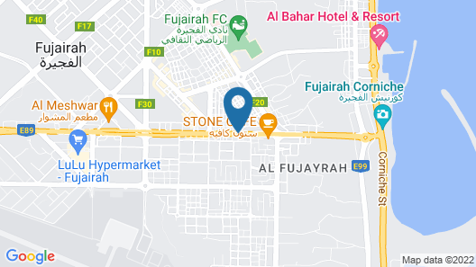 Nour Arjaan by Rotana Map